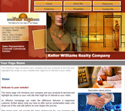 Business website template thumbnail