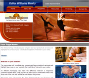 Dance website template thumbnail