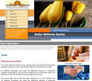Flower website template thumbnail