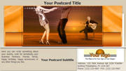 Dance postcard template thumbnail