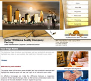 Real Estate website template thumbnail