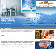 Relaxation website template thumbnail