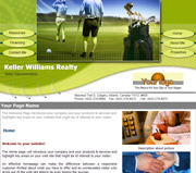Sport website template thumbnail