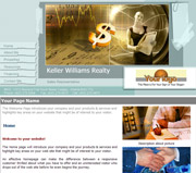 Finance website template thumbnail